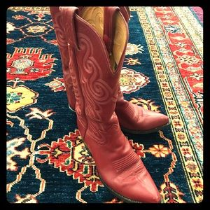 Red Tony Lama Cowboy Boots